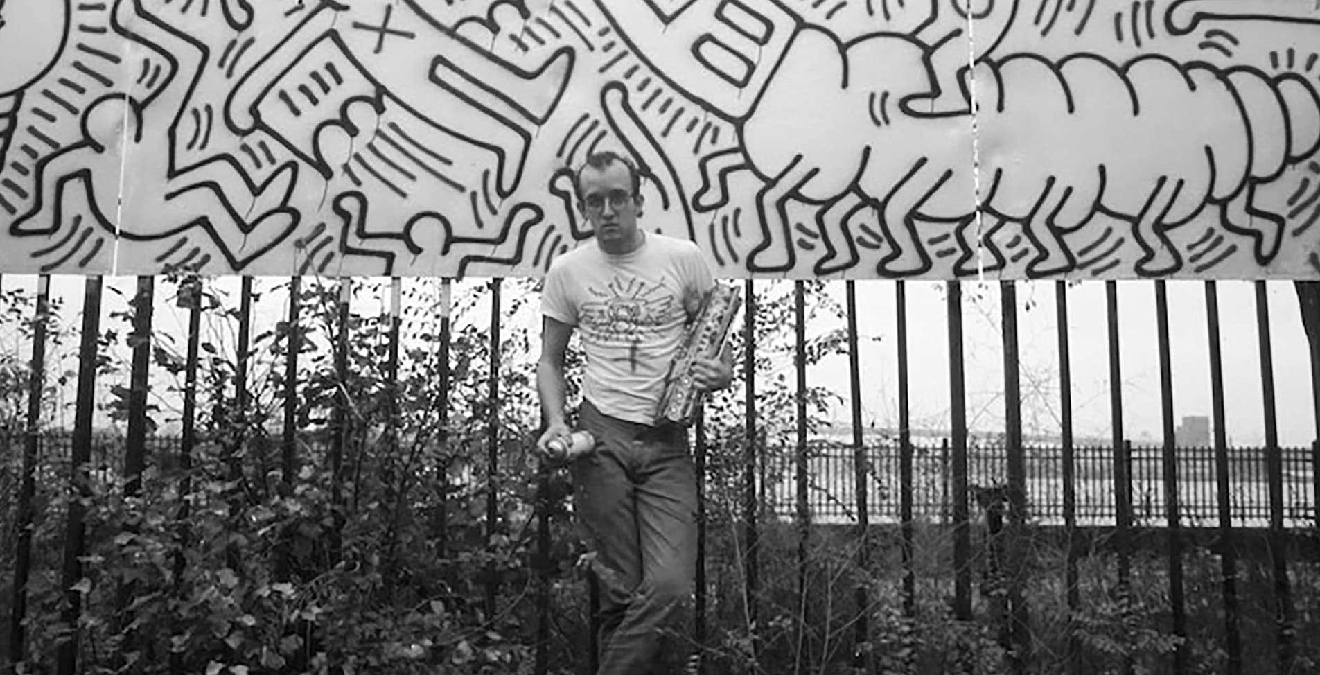 """""""Untitled FDR NY #23 and #24"""", 1984 - Keith Haring at WNDR Museum Chicago"""
