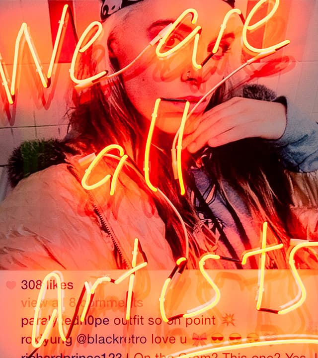 """""""We Are All Artists"""", 2020 - Brad Keywell at WNDR Museum Chicago"""
